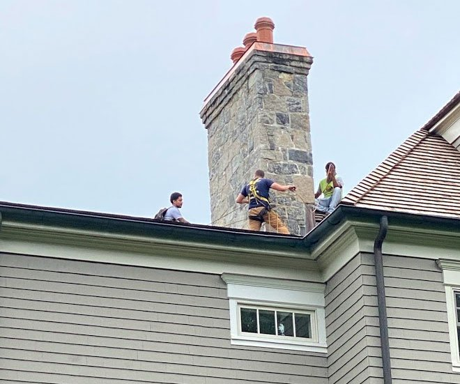Our Sealing Exclusion Prevention Experts up high
