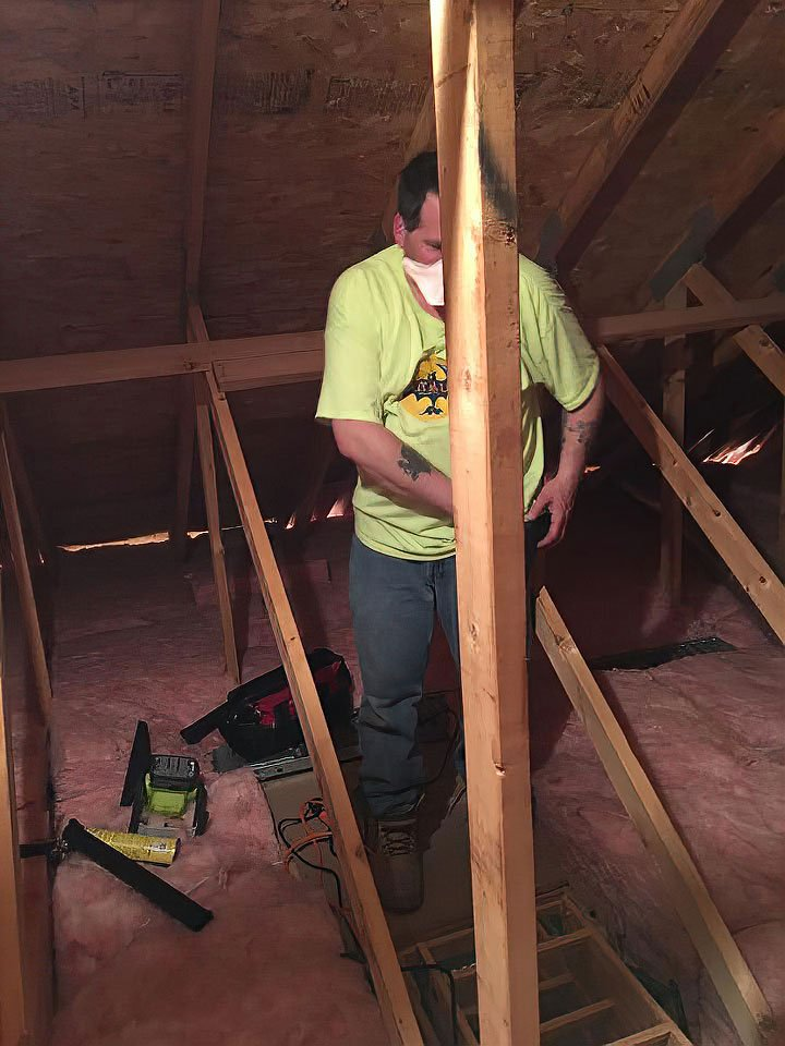 Our Westport CT Wildlife Specialist use their insulation replacement mastery to finish off this attic job.