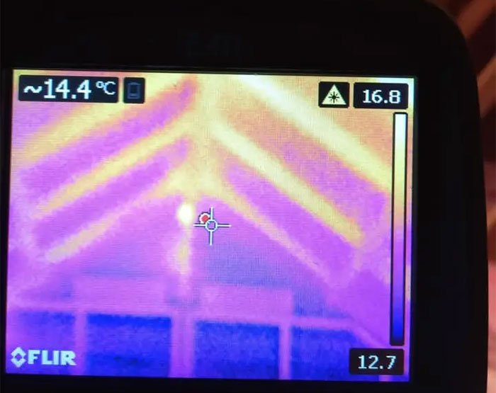 Our thermal imaging camera goes with us wherever we go.