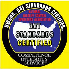 nwcoa bat certified logo - wildlife removal by weston wildlife specialists